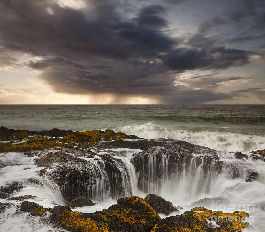Coast Photograph - Thors Well by Keith Kapple