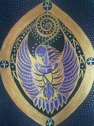 Thoth Painting - Thoth The Birdman by Michelle Collier
