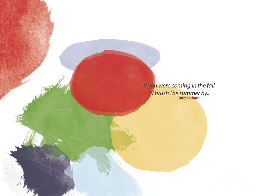 Poems Painting - Thoughts Of Emily Dickinson by Trilby Cole