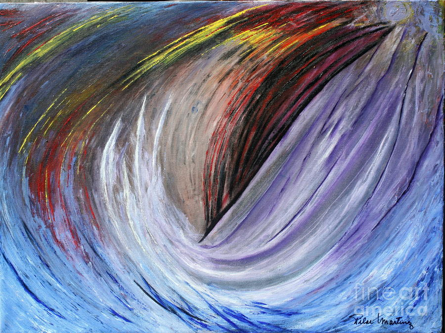Water Painting - Thoughts by Pilar  Martinez-Byrne