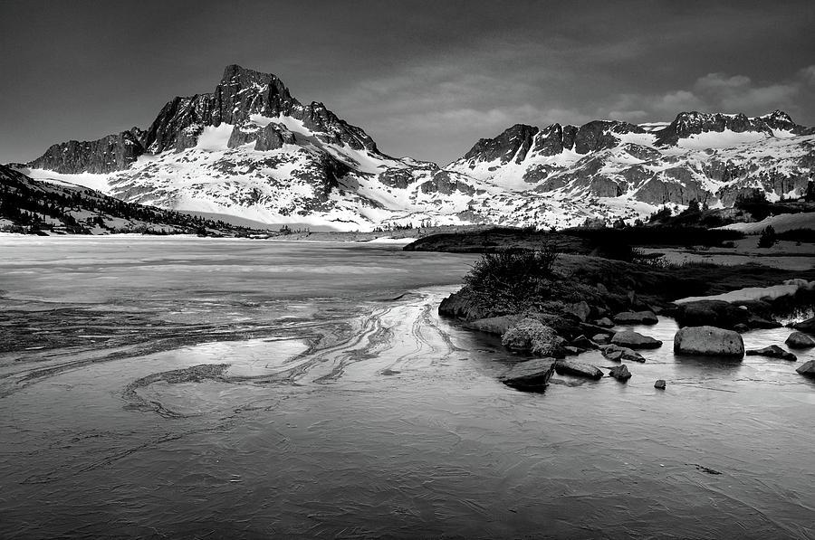 Horizontal Photograph - Thousand Island Lake, Mt. Ritter And Banner Peak by David Kiene