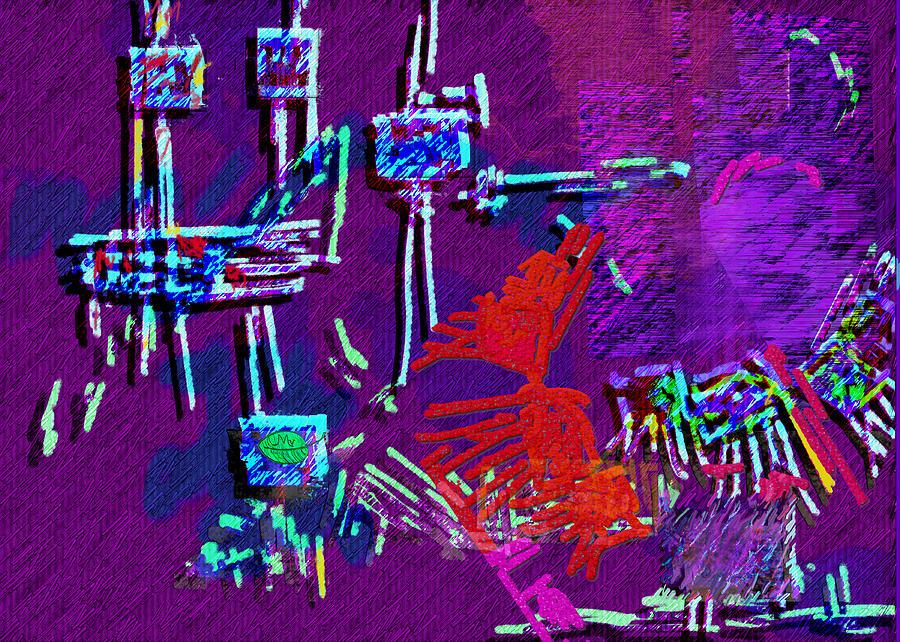 Sewing Digital Art - Threads by Mathilde Vhargon