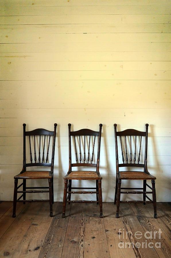 Chair Photograph - Three Antique Chairs by Jill Battaglia