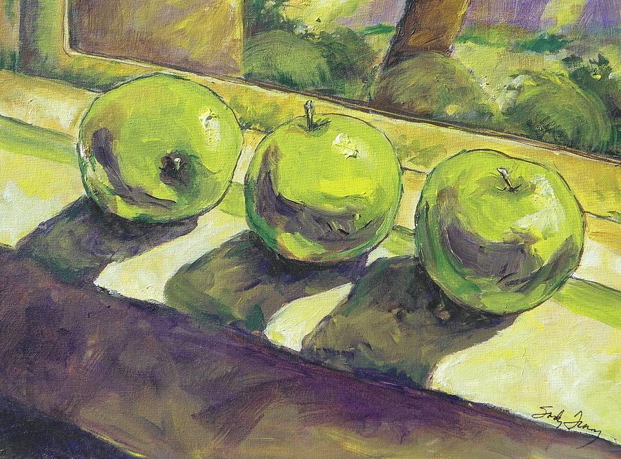 Three Apples by Sandy Tracey