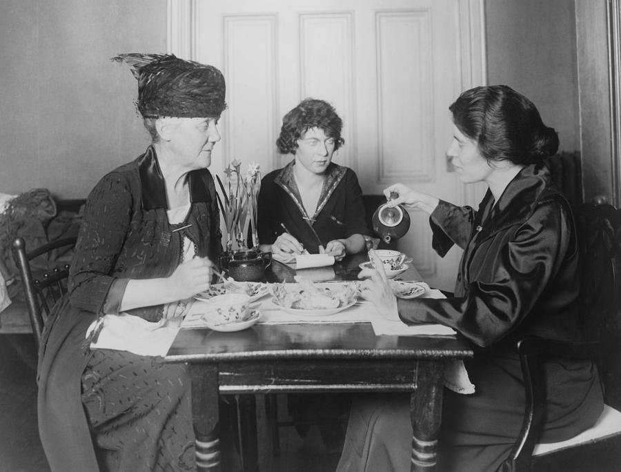 History Photograph - Three Feminists Activists by Everett