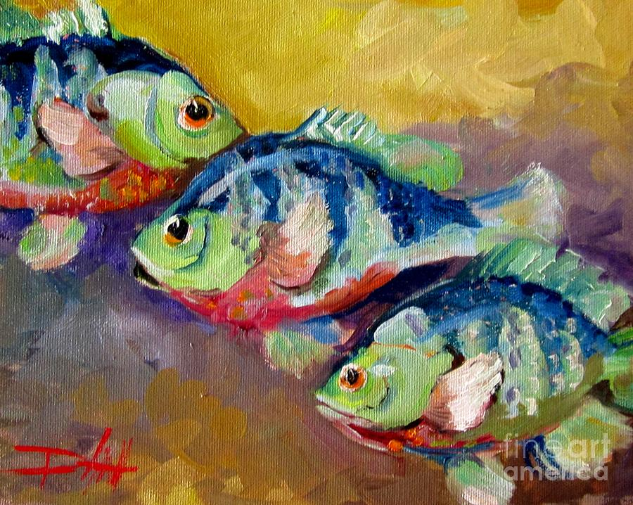 Three fish painting by delilah smith for Paintings of fish