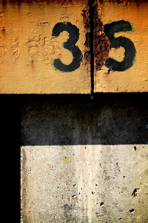 Abstract Photograph - Three Five Split by Odd Jeppesen