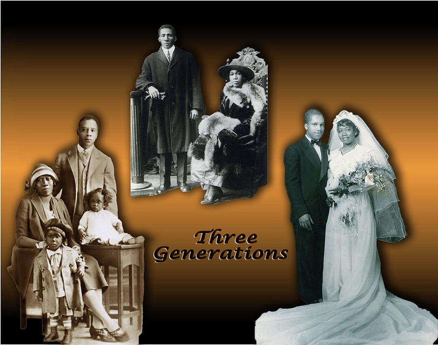 Family Digital Art - Three Generations by Terry Wallace