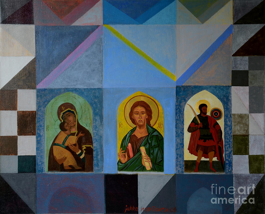 Icon Painting - Three Icons by Jukka Nopsanen