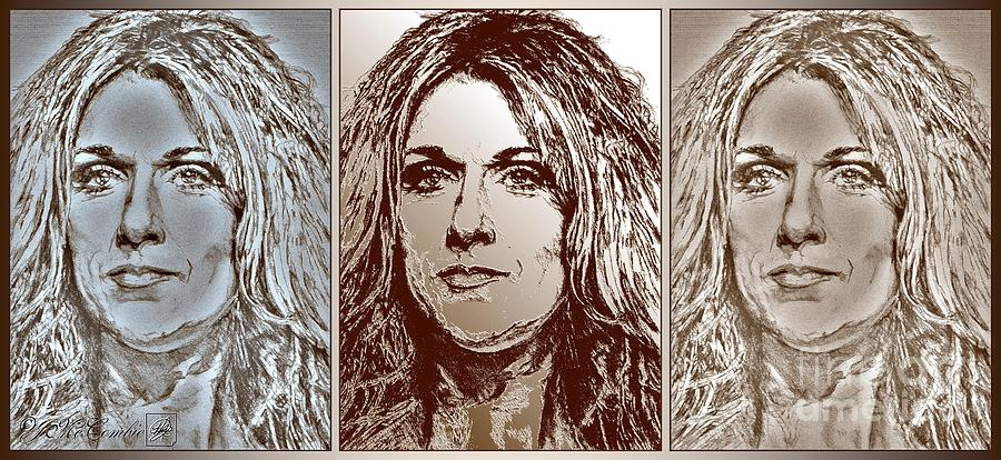 Celine Dion Digital Art - Three Interpretations Of Celine Dion by J McCombie