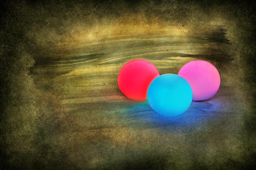 Abstract Digital Art - Three Light Bulbs by Svetlana Sewell