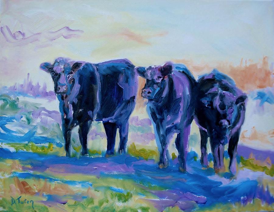 Three Painting - Three Mooges by Donna Tuten