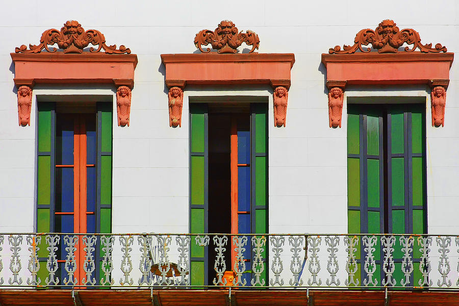 Three Photograph - Three Of A Kind - The Windows In Old Sacramento by Christine Till