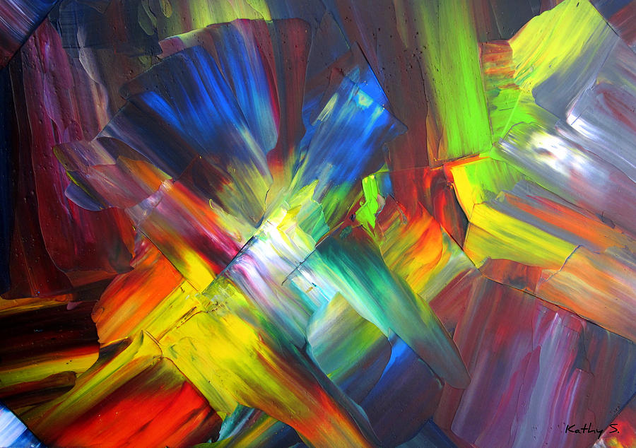Palette Painting - Thrive by Kathy Sheeran