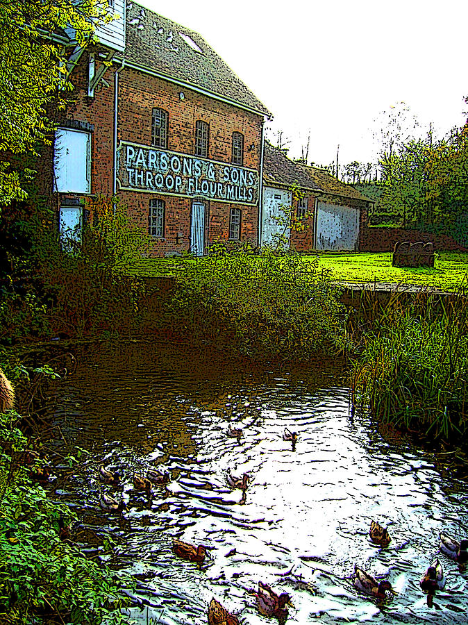 Throop Mill Photograph by Bournemouth Artist