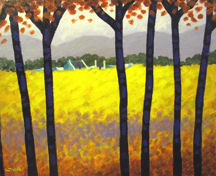 Landscape Painting - Through The Trees by John  Nolan