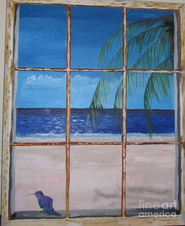 9c9e81e18419 Through The Window Painting by Jennylynd James