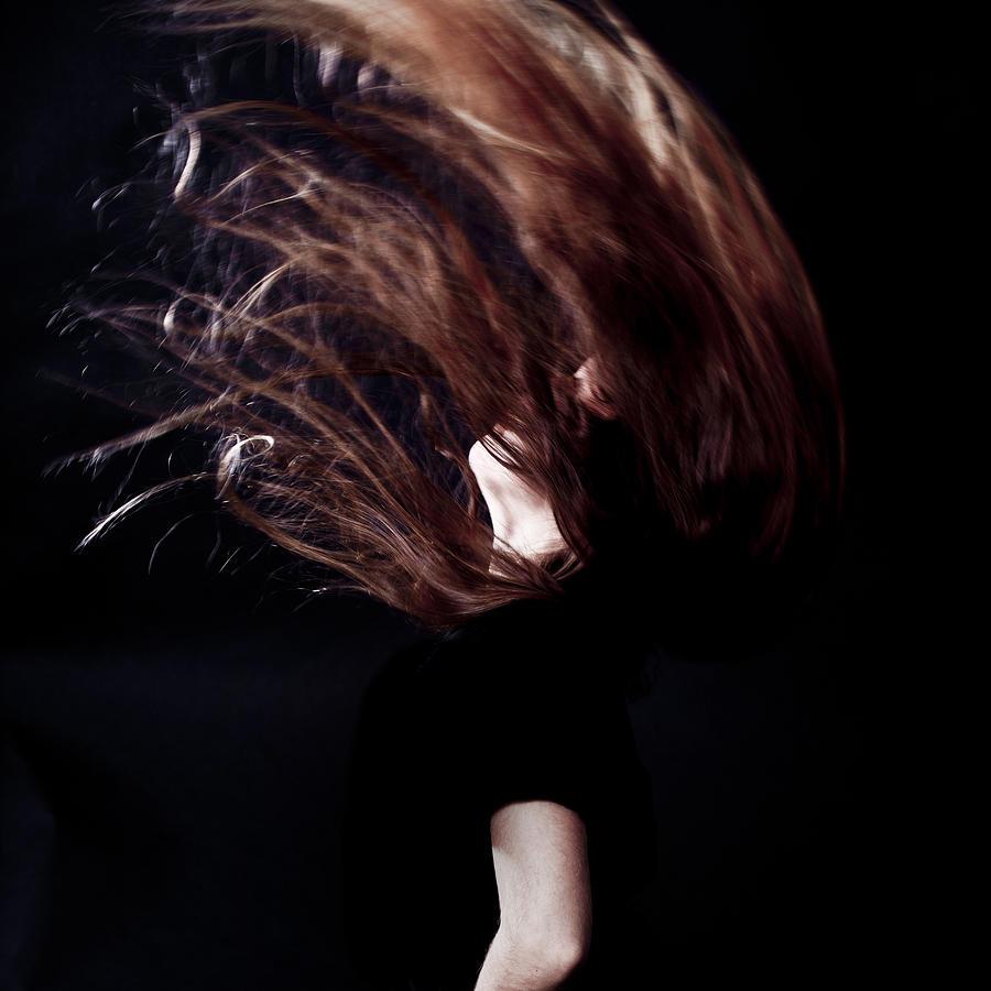 Girl Photograph - Throwing Hair by Joana Kruse