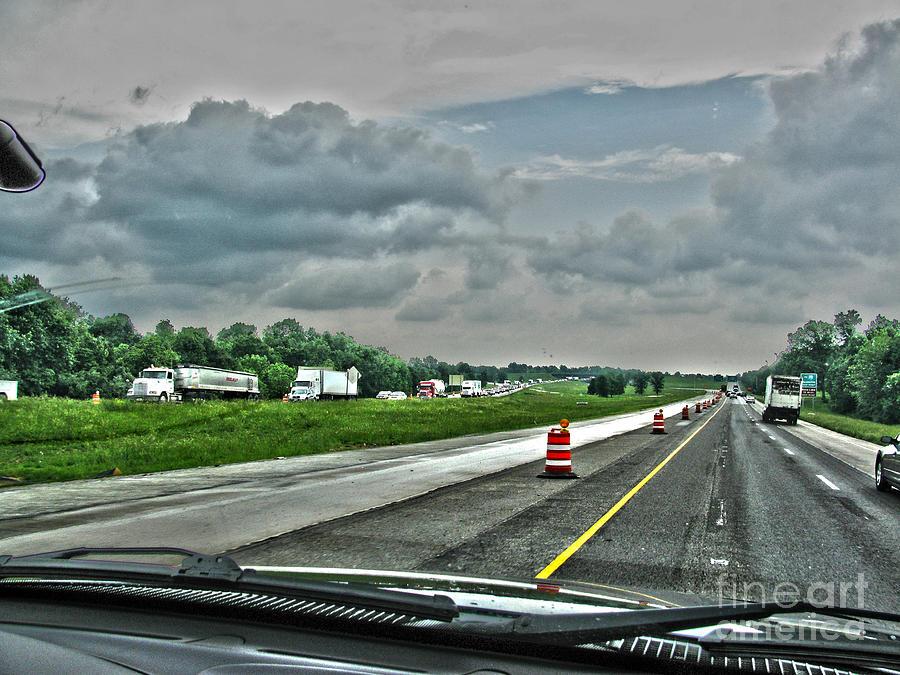 Ahead Photograph - Thunder Road by Alan Look