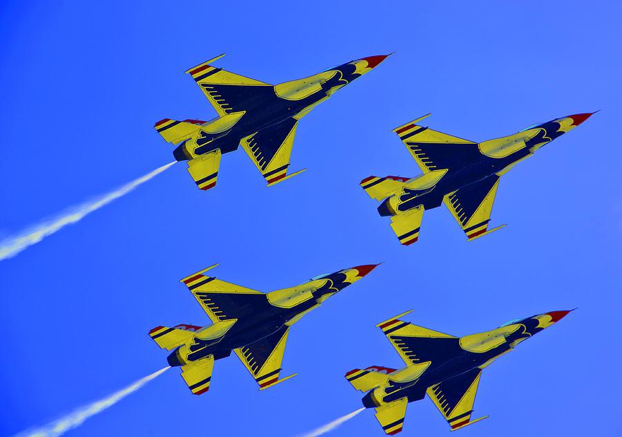 Thunderbirds Photograph - Thunderbirds Ascending by Michael Wilcox
