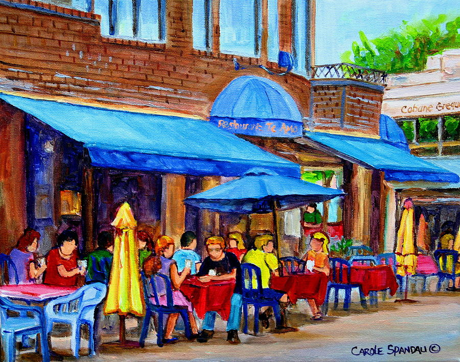 Ti amo restaurant prince arthur street montreal painting for Diner painting