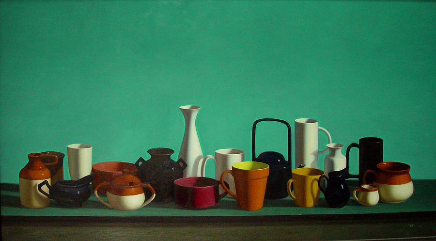 China Painting - Tianzhongfengs Oilpainting by Zhongfeng Tian