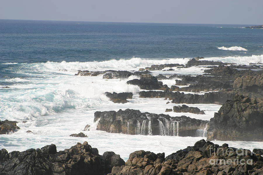 Ocean Photograph - Tidal Falls by Anthony Trillo