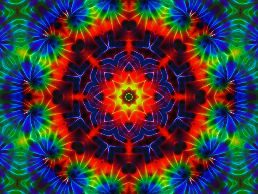 Tie Dye Kaleidoscope Digital Art By Lynne Jenkins