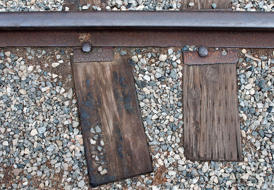 Railroad Photograph - Ties by Dan Holm