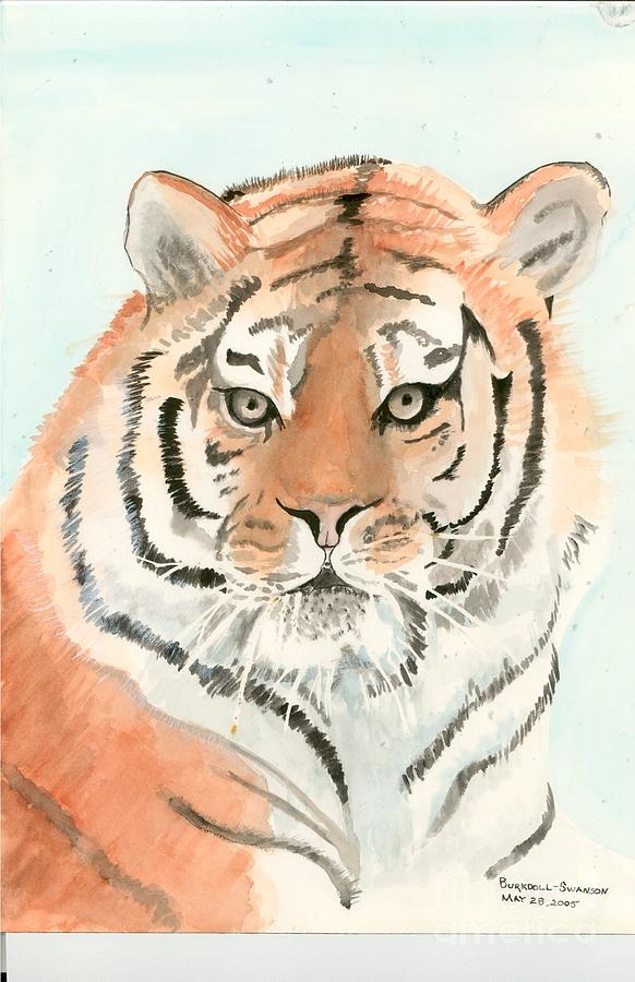 Tiger Painting - Tiger 1 by Delores Swanson