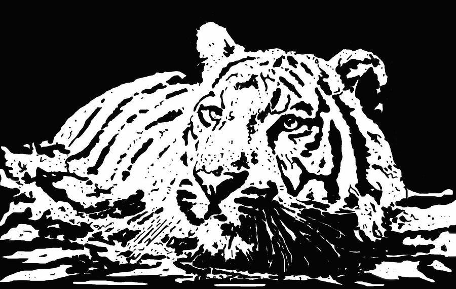 Tiger Drawing - Tiger 2 by Lori Jackson