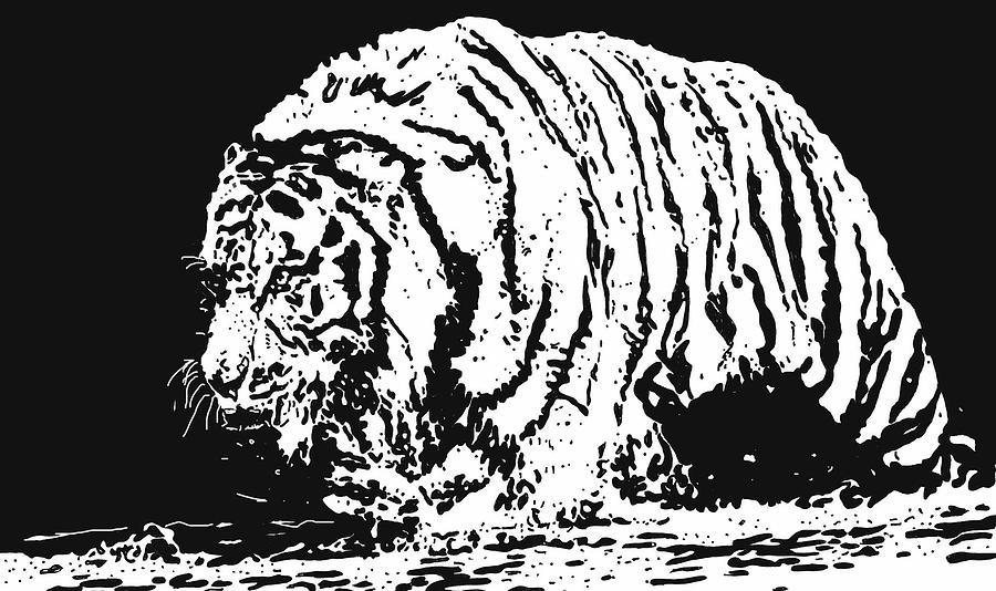 Tiger Drawing - Tiger 3 by Lori Jackson