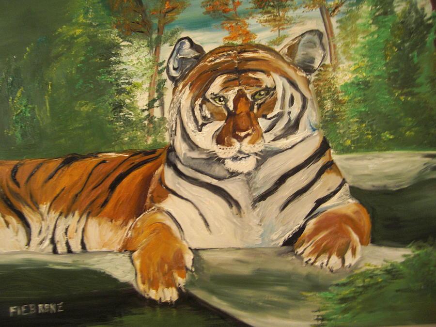 Tiger Painting - Tiger by Bernie Fiebranz