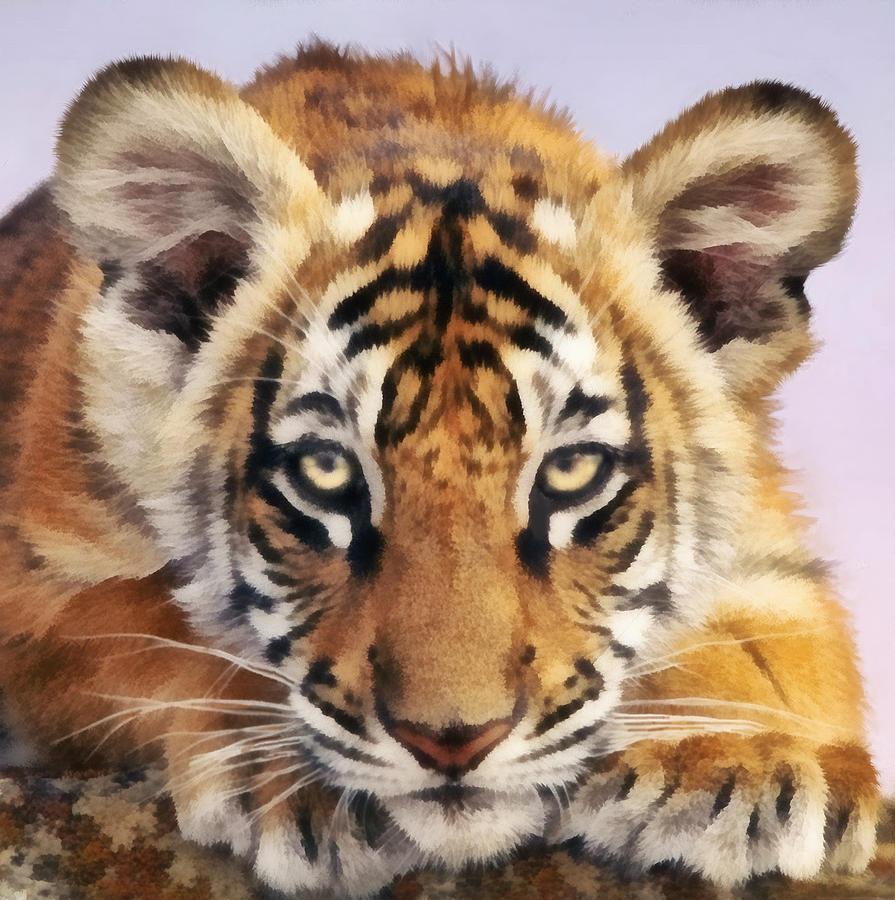 Tiger Cub Digital Art - Tiger Cub by Walter Colvin