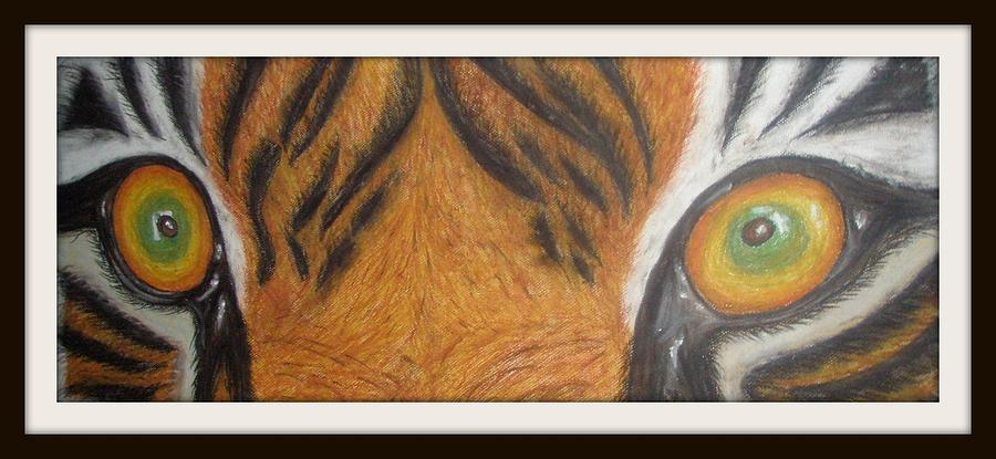 Tiger Eyes Painting by Foqia Zafar