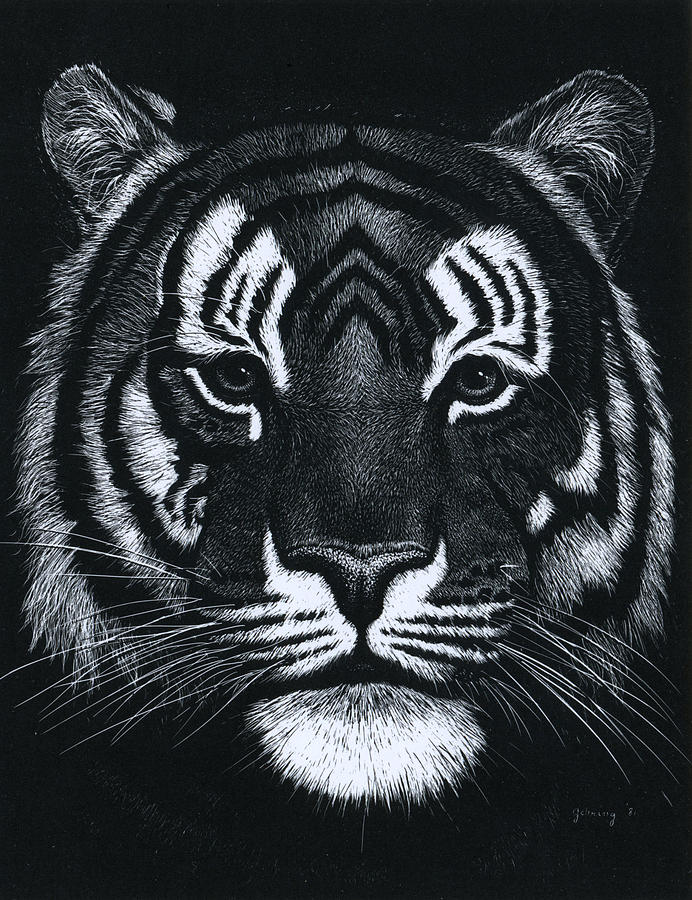 Tiger Painting - Tiger Head  One by Bill Gehring