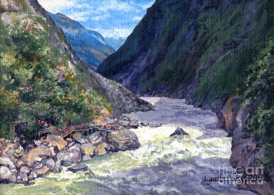 Lynette Cook Painting - Tiger Leaping Gorge by Lynette Cook