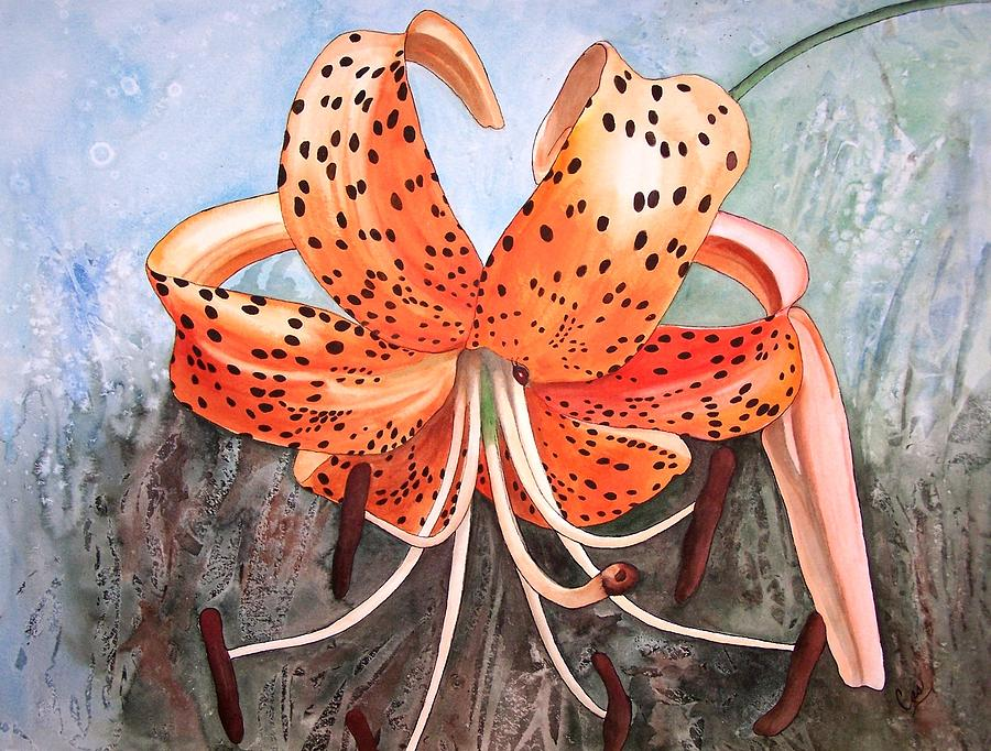 Tiger Lily Painting - Tiger Lily by Karen Casciani