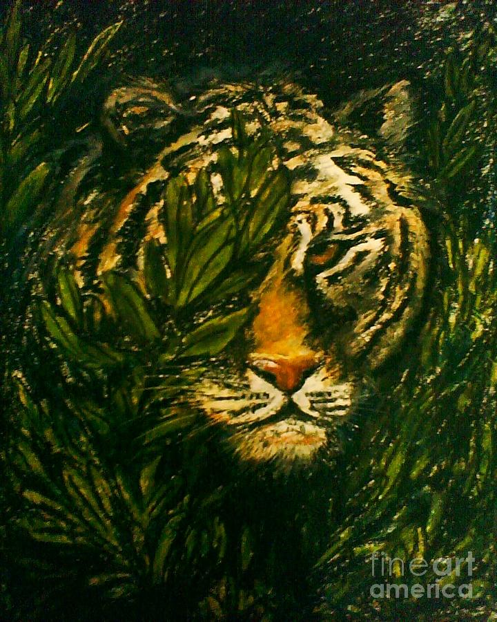 Tiger Pastel - Tiger On The Prowl by C Ballal