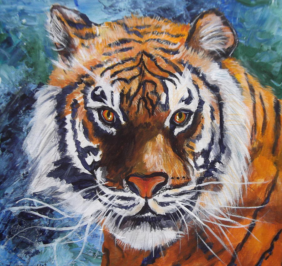 Tiger Painting - Tiger by Trudy Morris