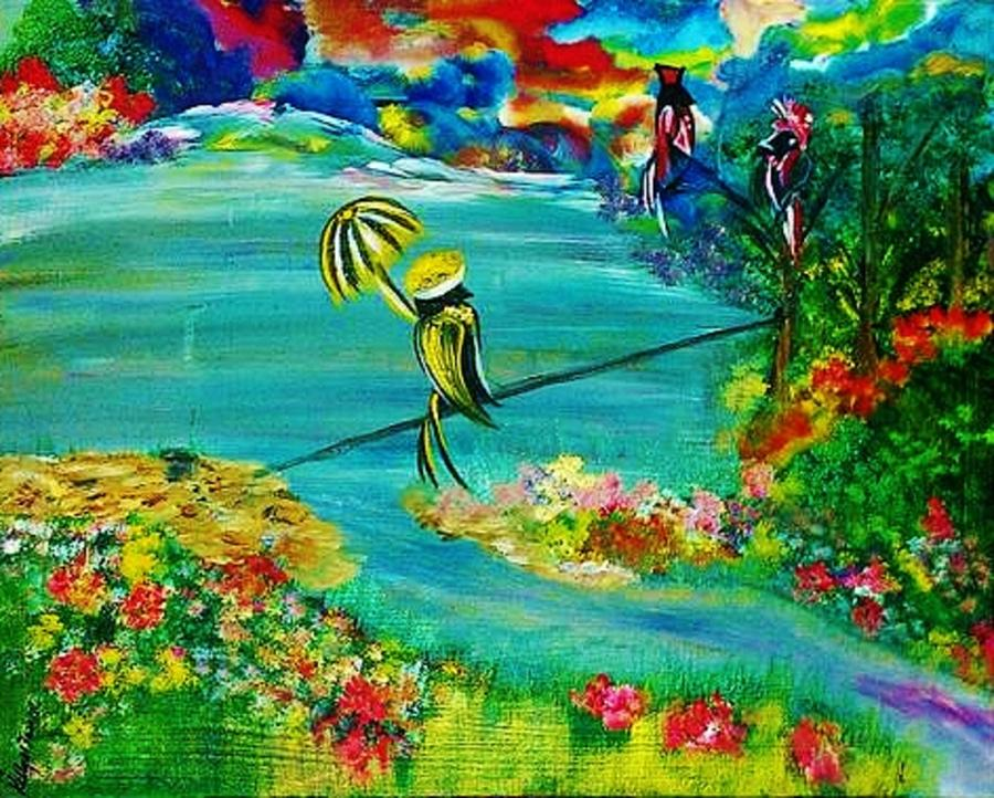 Tight Rope Painting - Tight Rope by Kelly Turner