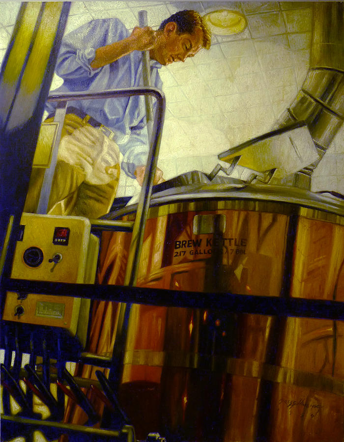 Brewer Painting - Tight Squeeze by Gregg Hinlicky