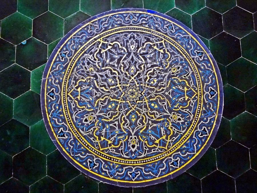 green photograph tile decorative arts by necati cil - Decorative Art