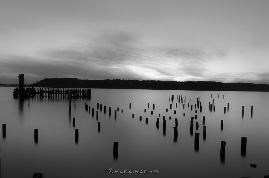 Beach Photograph - Tiltow Beach  In Black And White by Sarai Rachel