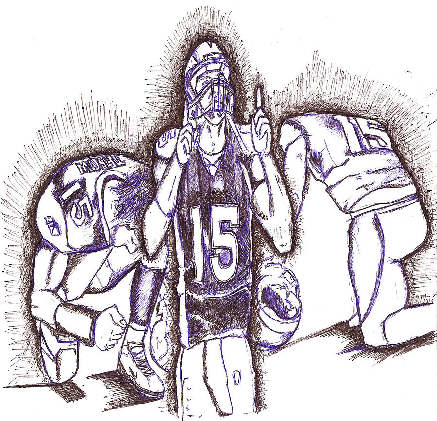Tebowing Drawing - Tim Tebow Glory by HPrince De Artist