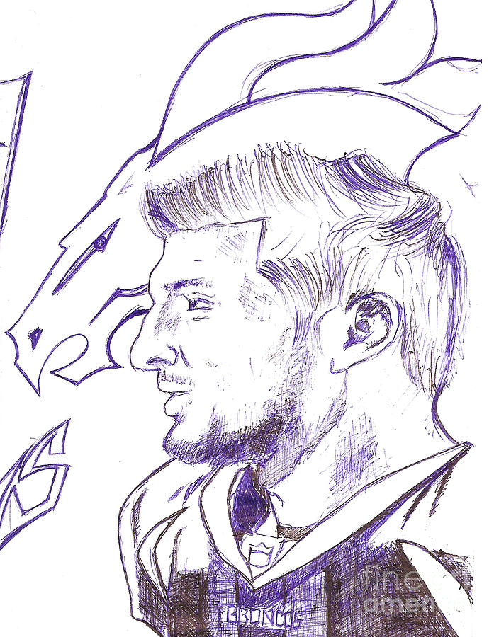 Tim Tebow Drawing By Hprince De Artist