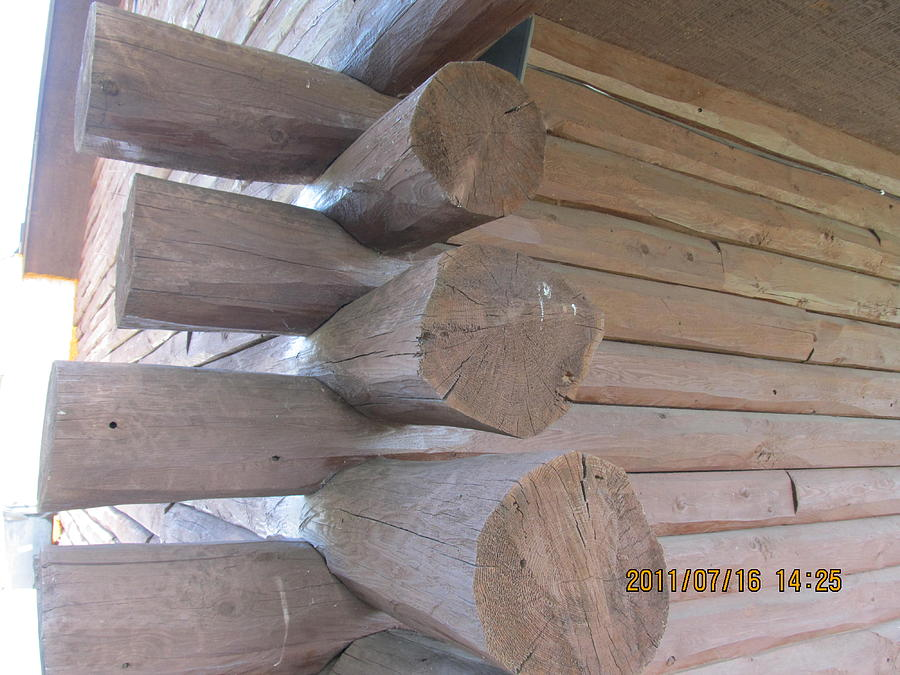 Log House Photograph - Timbers by Tina M Wenger