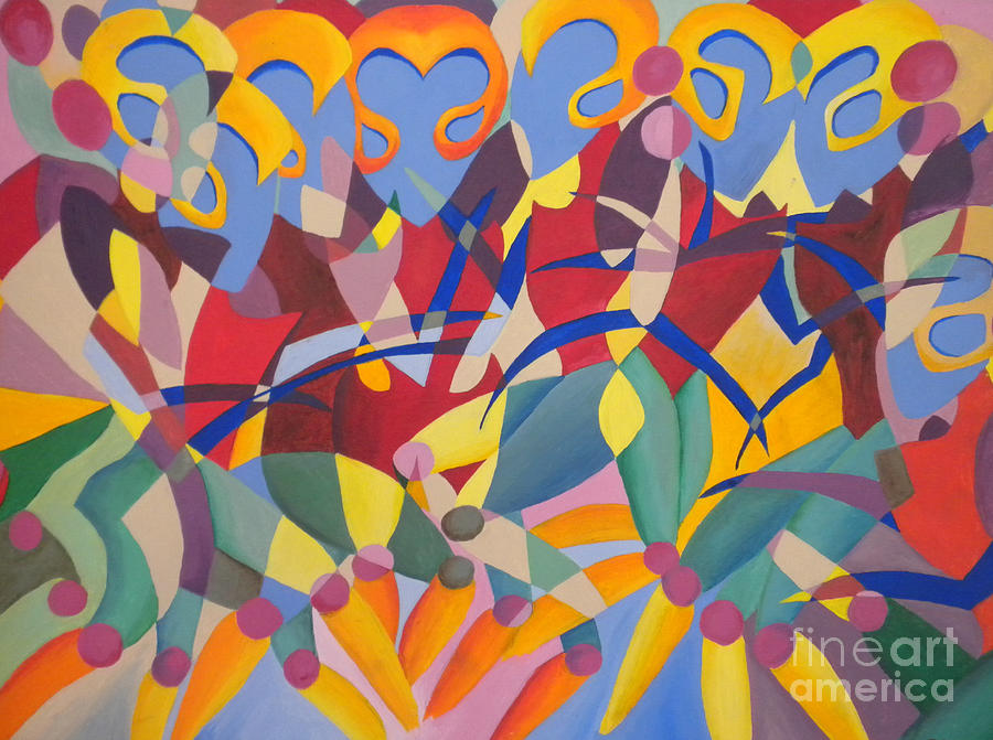 Cubism Painting - Time Dancer by Silvie Kendall