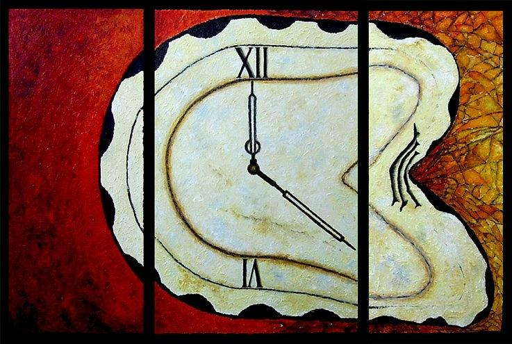 Time Painting - Time by Draia Coralia