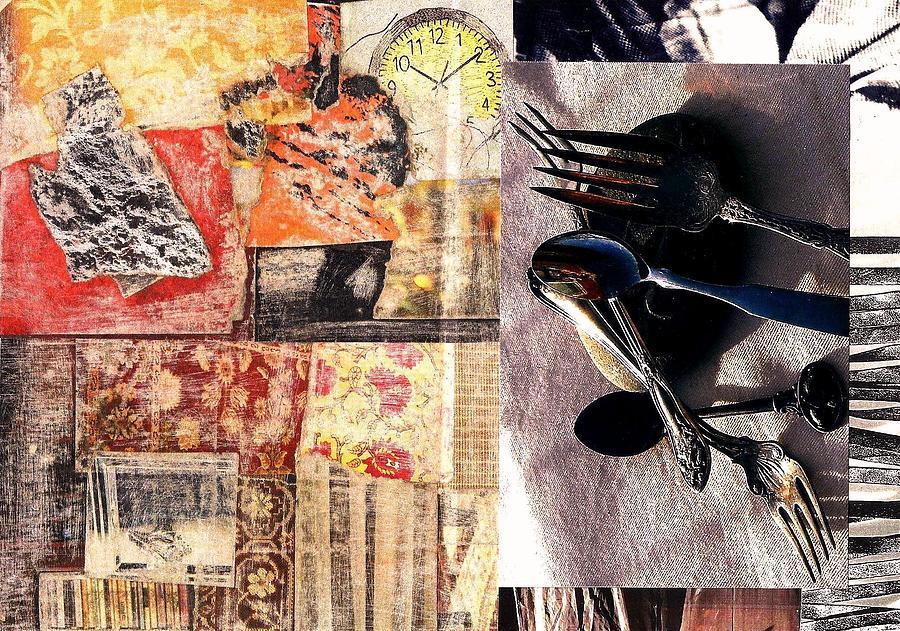 Time Flies Silverware Fades Digital Art by Jann Sage